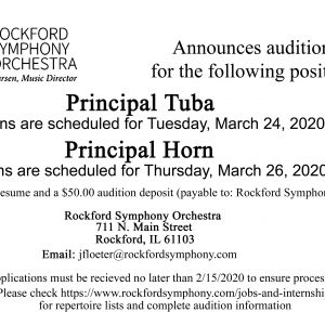 Rockford Symphony Audition