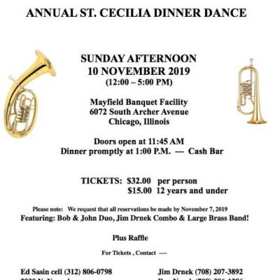 Czech-American Musicians Club Announces Annual St. Cecilia Dinner Dance