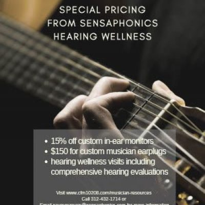 CFM Partners with World Renowned Audiologist Dr. Michael Santucci and Sensaphonics to Protect Musicians Hearing Health